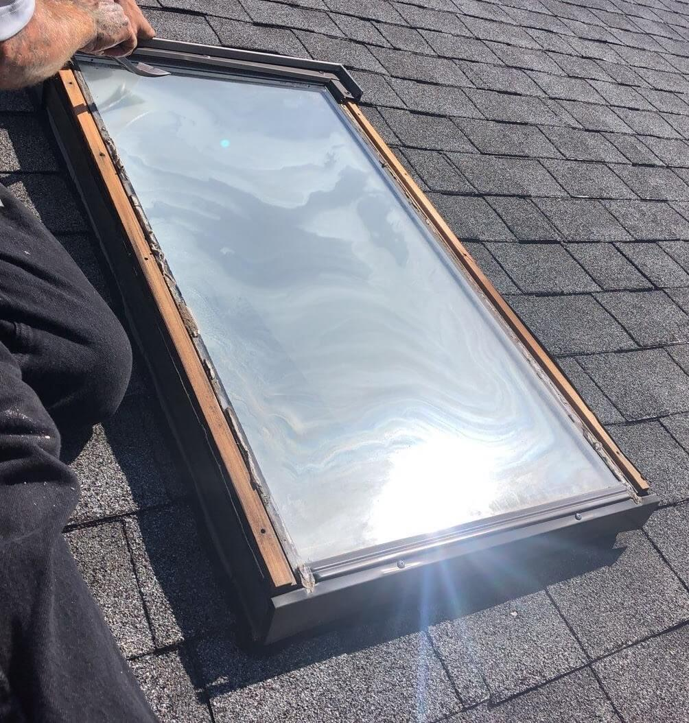 Home with skylight thermal gas compromised in Penfield New York.