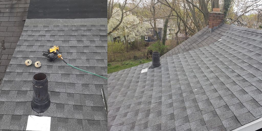 New roof repaired in East Irondequoit, New York.