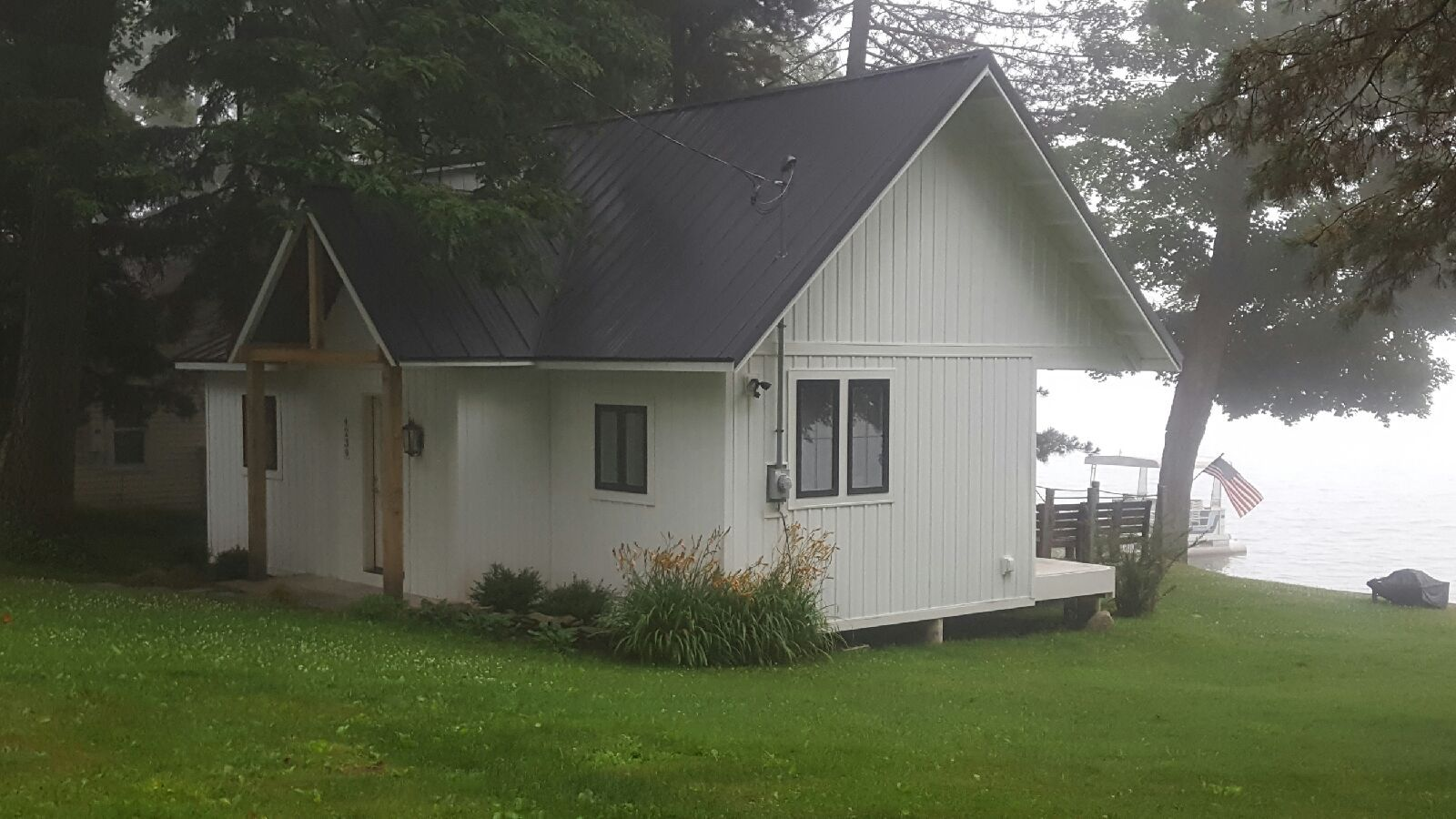 New metal roof on a Silver Lake cottage in Perry, NY.