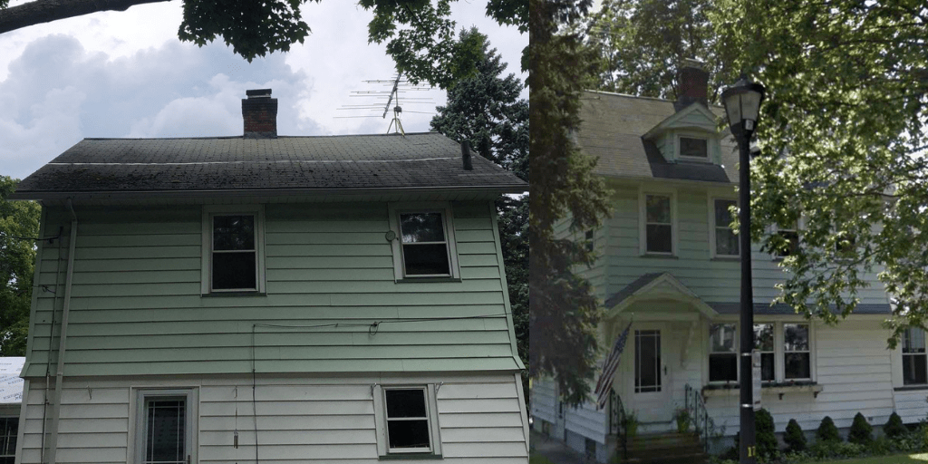 roof with wind shingle damage in chili ny