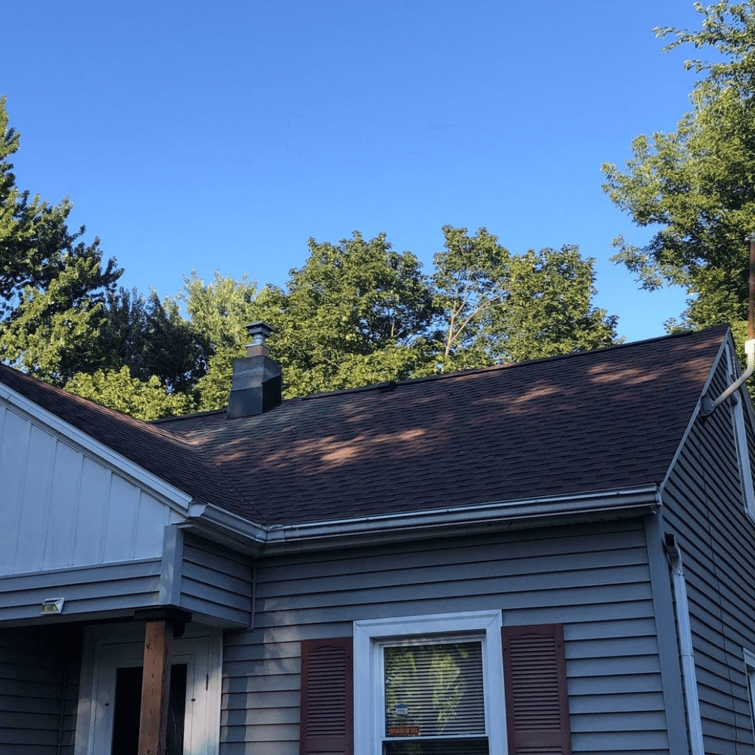 After photo of roof tear off and replacement in Rochester, NY
