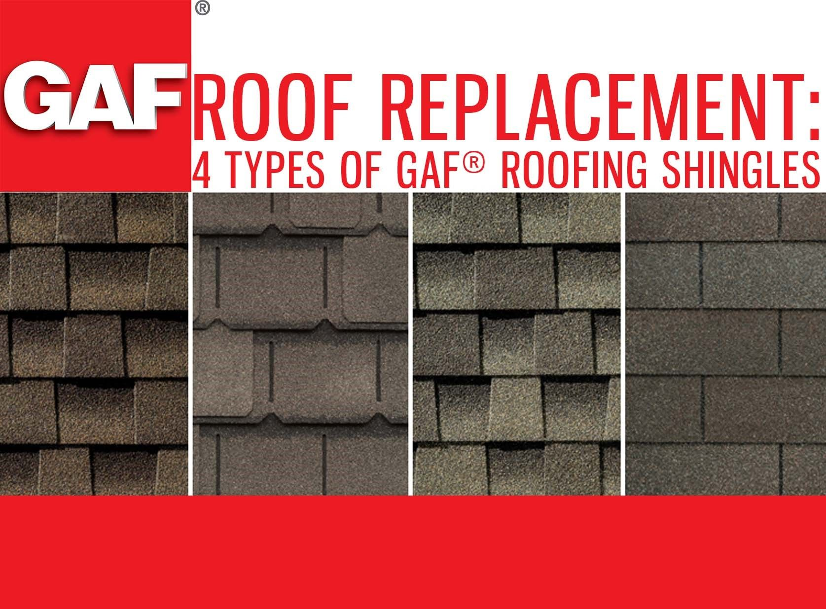Collage of new roofing shingle types.